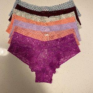 """Victoria's Secret """"7"""" Pair Panty Bundle"""